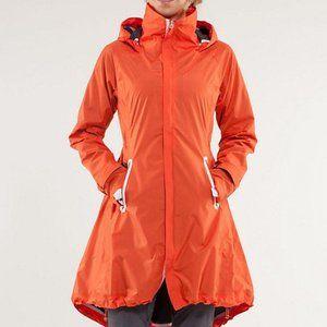 LULULEMON | Orange Ride On Cycling Rain Jacket 10
